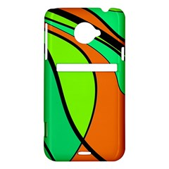 Green and orange HTC Evo 4G LTE Hardshell Case