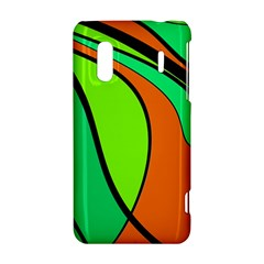 Green and orange HTC Evo Design 4G/ Hero S Hardshell Case