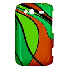 Green and orange HTC Wildfire S A510e Hardshell Case