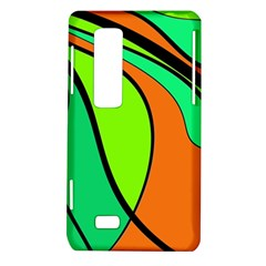 Green and orange LG Optimus Thrill 4G P925