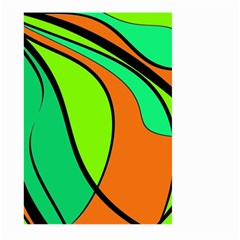 Green and orange Large Garden Flag (Two Sides)
