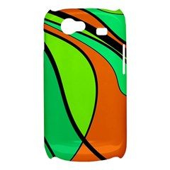 Green and orange Samsung Galaxy Nexus S i9020 Hardshell Case