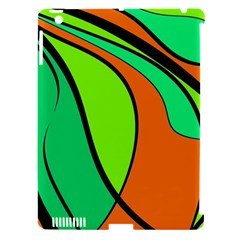 Green and orange Apple iPad 3/4 Hardshell Case (Compatible with Smart Cover)