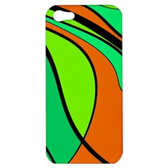 Green and orange Apple iPhone 5 Hardshell Case
