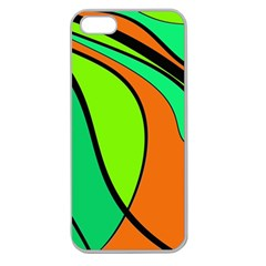 Green and orange Apple Seamless iPhone 5 Case (Clear)
