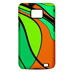 Green and orange Samsung Galaxy S II i9100 Hardshell Case (PC+Silicone)