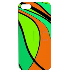 Green And Orange Apple Iphone 5 Hardshell Case With Stand