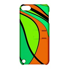 Green and orange Apple iPod Touch 5 Hardshell Case with Stand