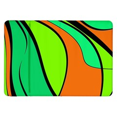 Green and orange Samsung Galaxy Tab 8.9  P7300 Flip Case