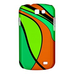 Green and orange Samsung Galaxy Express I8730 Hardshell Case