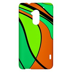 Green and orange HTC One Max (T6) Hardshell Case