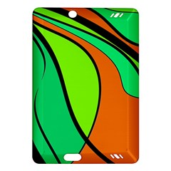 Green and orange Amazon Kindle Fire HD (2013) Hardshell Case