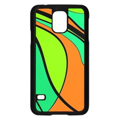 Green and orange Samsung Galaxy S5 Case (Black)