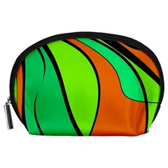 Green and orange Accessory Pouches (Large)