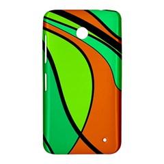 Green and orange Nokia Lumia 630