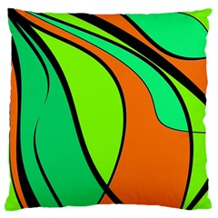 Green and orange Large Flano Cushion Case (Two Sides)