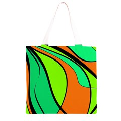 Green and orange Grocery Light Tote Bag