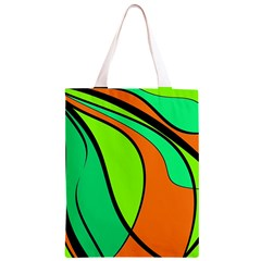 Green and orange Classic Light Tote Bag