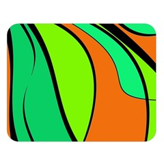 Green and orange Double Sided Flano Blanket (Large)