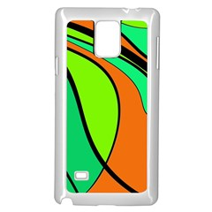 Green and orange Samsung Galaxy Note 4 Case (White)