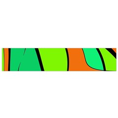 Green and orange Flano Scarf (Small)