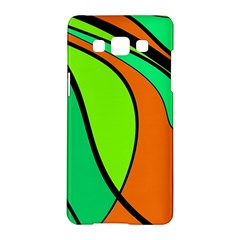 Green and orange Samsung Galaxy A5 Hardshell Case