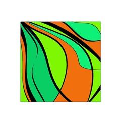 Green and orange Satin Bandana Scarf