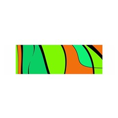Green and orange Satin Scarf (Oblong)