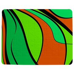 Green And Orange Jigsaw Puzzle Photo Stand (rectangular)