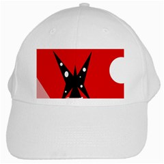 Black butterfly  White Cap