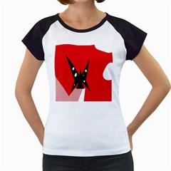 Black butterfly  Women s Cap Sleeve T