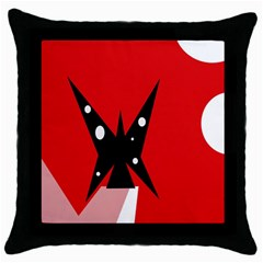 Black butterfly  Throw Pillow Case (Black)