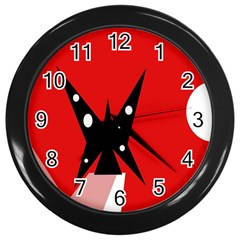 Black butterfly  Wall Clocks (Black)