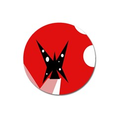 Black butterfly  Magnet 3  (Round)