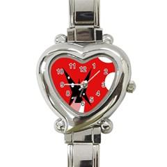 Black butterfly  Heart Italian Charm Watch