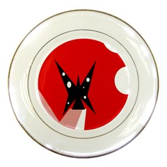 Black butterfly  Porcelain Plates