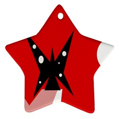 Black butterfly  Star Ornament (Two Sides)