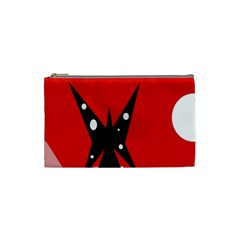 Black butterfly  Cosmetic Bag (Small)