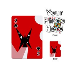 Black butterfly  Playing Cards 54 (Mini)
