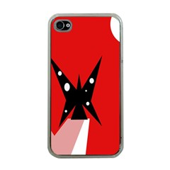 Black butterfly  Apple iPhone 4 Case (Clear)