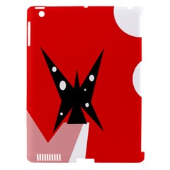 Black butterfly  Apple iPad 3/4 Hardshell Case (Compatible with Smart Cover)