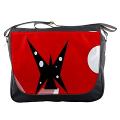 Black butterfly  Messenger Bags