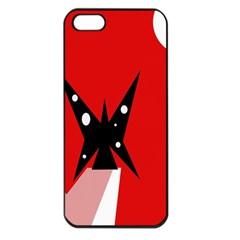 Black butterfly  Apple iPhone 5 Seamless Case (Black)