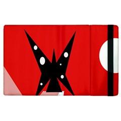 Black butterfly  Apple iPad 2 Flip Case