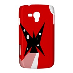 Black butterfly  Samsung Galaxy Duos I8262 Hardshell Case
