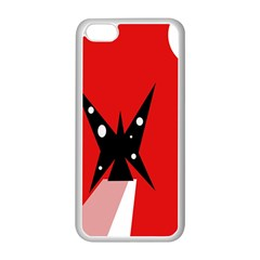 Black butterfly  Apple iPhone 5C Seamless Case (White)