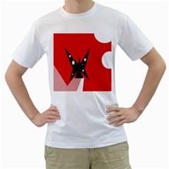 Black butterfly  Men s T-Shirt (White)