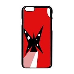 Black butterfly  Apple iPhone 6/6S Black Enamel Case