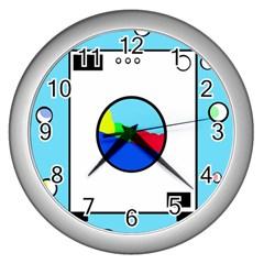 Washing machine  Wall Clocks (Silver)