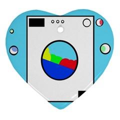 Washing machine  Heart Ornament (2 Sides)